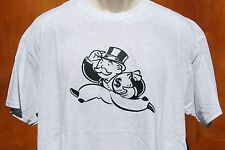 graphic retro art vintage Cotton Mens T Shirt , S,M,L,XL ,Monopoly Man Cash