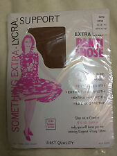 """Suntan Brown 4X Vintage Support Tights Hips 56-60"""" Extra Large Lycra Pantyhose"""