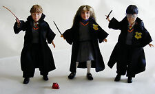 Harry Potter Hogwarts Heros Doll Set, Hermione, Ron & Harry with Wands & Stone!
