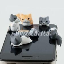 6pcs Cheese Cat 3.5mm Anti Dust Earphone Jack Plug Stopper For iPhone phone AUBU