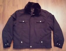 RARE AUTHENTIC MENS China POLICE Special Force Combat Jacket WINTER COAT 46 ZIP