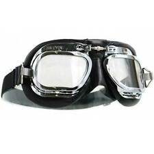Halcyon Mk410 Mark 410 Goggles Deluxe Black Motorcycle Aviation Classic Retro