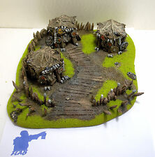 NEW!! WARHAMMER ORCS AND GOBLINS SCENERY ORCS VILLAGE  PRO PAINTED