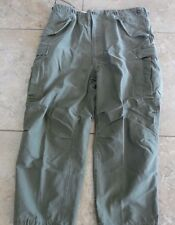 VTG Military Korean War Era M1951 Green Shell Field Trousers Cargo Pants XL