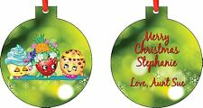 Personalized Shopkins 2 Ornament ( Add Any Message You Want)