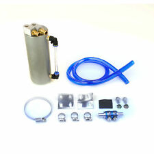 750ML ALUMINUM BILLET OIL RESERVOIR CATCH TANK CAN TURBO CHARGED NA SILVER
