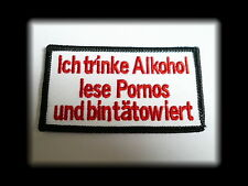 Alkohol,Pornos,Tattoo,Patch,Aufnäher,Aufbügler,Badge,Iron On,Badge,