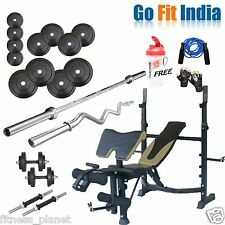 Go Fit 100 Kg Home Gym Best Package With Rsk- 210 Bench And Other Accessories