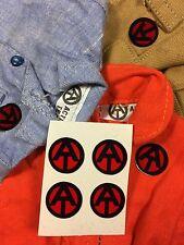 4x sticker Action Team Man gi joe 100% como original rojo transparente perforada