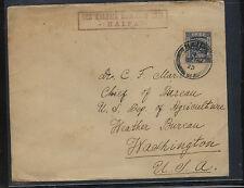 Palesitne   1923   cover  to  US   Weather   Bureau    APL0129
