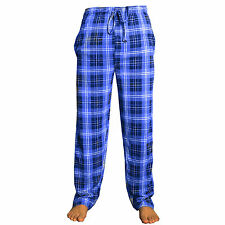 New Mens Pyjamas Lounge Bottoms Pants Nightwear Cotton Checked Tartan Trousers