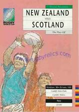 SCOTLAND v NEW ZEALAND 3/4 PLACE PLAY OFF 1991 RUGBY WORLD CUP PROGRAMME, RWC