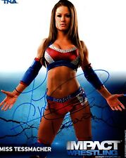 Miss Tessmacher Signed Autograph TNA Impact P-125 8x10 Promo Photo