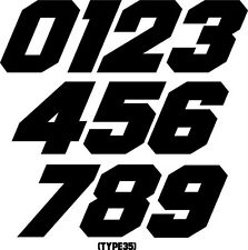CUSTOM MX NUMBER PLATE DECALS MOTOCROSS ATV BMX TRIAL GO KART SNOWMOBILE RACING