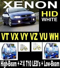 H1 & H4 &T10 LED Crystal White Halogen Lights Commodore VT VX VY VZ VU WH  LEDS