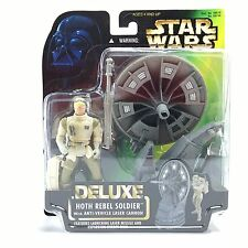 Star Wars POTF2/DELUXE HOTH REBEL SOLDIER w/ANTI-VEHICLE LASER CANNON Figure MOC