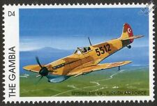 Turkish Air Force SPITFIRE Mk.VB (Turkey) Aircraft Stamp (1996 Gambia)