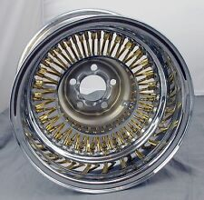 "Wicked Wires Gold 60 Spoke 13"" Wheel Rim - 5x100mm Bolt Pattern - Part # 376023"