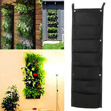 7 Pocket Hanging Vertical Garden Planter Indoor / outdoor Decoration Herb Pot