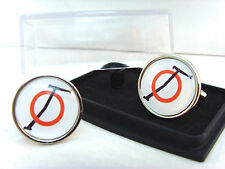 JAMES BOND 007 OSATO CHEMICALS & ENGINEERING SPECTRE BADGE MENS CUFFLINKS GIFT