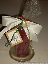 "Vintage 3"" X 6""  Holiday Traditions Spice Berry Candle #03376 w/Bow & Plastic"