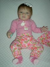 Reborn baby girl toddler Grant by Michelle Fagan Gorgeous! Micro-rooted!