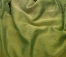 "Faux Silk CHIFFON Fabric IRIDESCENT APPLE GREEN 12""x27"" remnant"