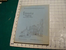 vintage Original Catalog: ENTRPRISE WROUGHT IRON fences-gates-arches, 1931 or so