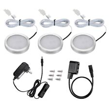 3x Home Kitchen 27 LED Under Cabinet Light Night Light Closet Puck Lamp Kit