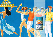 PUBLICITE ADVERTISING 044  1991  ORANGINA LIGHT   ( 2 pages)