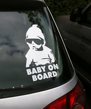 Large Carlos Baby On Board Child Window Bumper Car Sign Decal Sticker