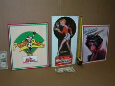 DR PEPPER - 3 Sign Collection - OLD SIGNS - Dated1994 &1998 - PLUS FREE SHIPPING