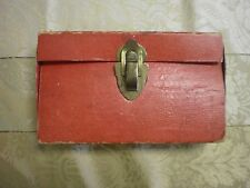 Vintage Fannie Mae Fold Over Pocket Book Style Candy Container Faux Leather Look