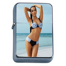 French Pin Up Girls D3 Flip Top Oil Lighter Windproof Resistant Flame