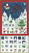 New 2016 1586 Makower Frosty Scenic Advent calendar panel