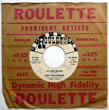ALFY WEATHERBEE 45 49 Juke Boxes / Why Am I Crying PROMO Rockabilly 1957 e1505