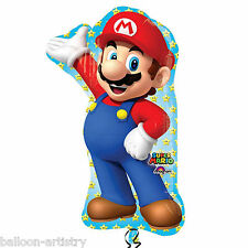 "33"" Super Mario Bros Children's Party MARIO Character Foil Supershape Balloon"