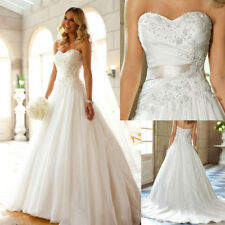 New ivory/white gorgeous New organza wedding dress in stock Size 6 8 10 12 14 16