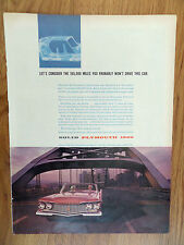 1960 Plymouth Fury Ad  Solid on the Highway Crossing the Bridge
