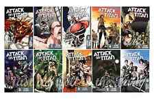Attack on Titan English Manga Anime Graphic Novel Series Complete Book 1-10 Set!