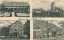 alte AK Hirschfeldau Jelenin Schlesien Sagan, Schule Gasthaus, ca. 1910 #D842