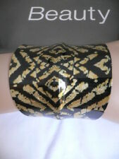 New Women Gold Metal Cuff African Drawings Black Rusty Gold Color Adjustable