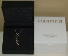 Final Fantasy 13 Lightning Silver 925 Necklace Pendant Square Enix Official NIB