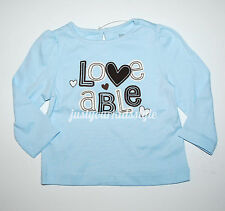 Gymboree NWT Girls Best Friend size 12-18 months baby girl blue Loveable shirt