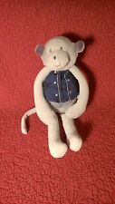"11"" Moulin Roty AIME ET CELESTE GRAY MONKEY W/ VEST plush stuffed toy"