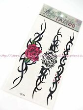 US SELLER rose tribal totem wrist band fake bracelet ankle temporary tatoo