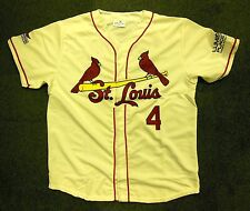 YADIER MOLINA ST LOUIS CARDINALS OFFWHITE ADULT REPLICA XL JERSEY SGA 5000351