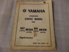Yamaha RD250 1973 DS7 1972 R5C 1972 RD350 1973 4 Manual de Servicio Combinado
