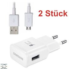 2x Schnell Ladegerät EP-TA20EWE Ladekabel Samsung Galaxy S5 S6 S7 Edge Plus + OR