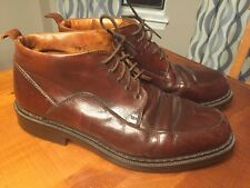 Johnston & Murphy Brown Ankle Boots Dress Shoes Italy Mens 10 Medium Leather
